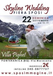 poster fiera sposi Skyline Wedding Villa Pighet